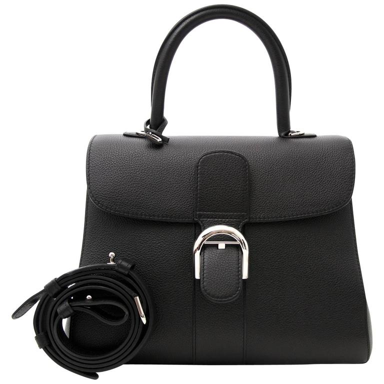 Brand New Delvaux Black Brillant MM PHW + STRAP