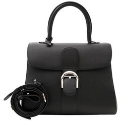 Brand New Delvaux Black Brillant MM PHW + STRAP