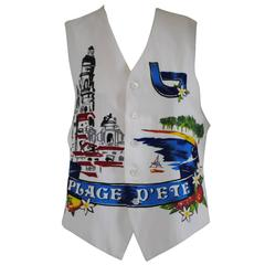 Byblos vintage Plage d'Ete multicoloured with beads Gilet