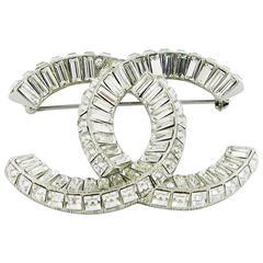 Chanel Gorgeous Crystal Logo Brooch