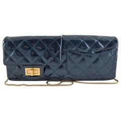 Chanel Reissue Blue Patent Clutch 2way Serpentine Chain - Rare