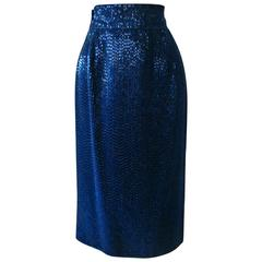Early Gianni Versace Beaded Evening Skirt Fall 1983