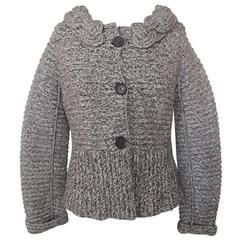 Rena Lange Marled Wool-Cashmere Sweater
