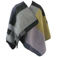 Burberry Wool and Cashmere Blanket Wrap Poncho