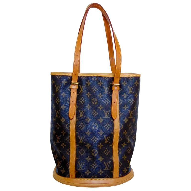 Classic Louis Vuitton Monogram Bucket Bag Gm Large Tote Vintage 2005 For