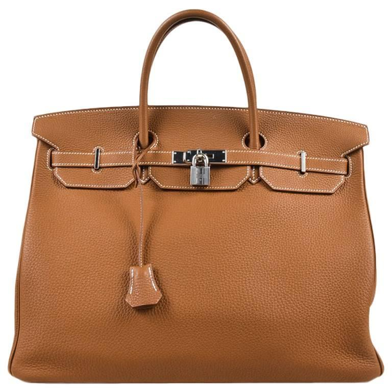 "Hermes ""Gold"" Togo Leather Gold Plated Hardware ""Birkin"" 40 cm Bag 1"