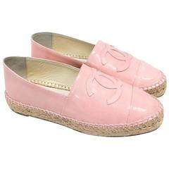 Chanel Pink Patent Espadrilles