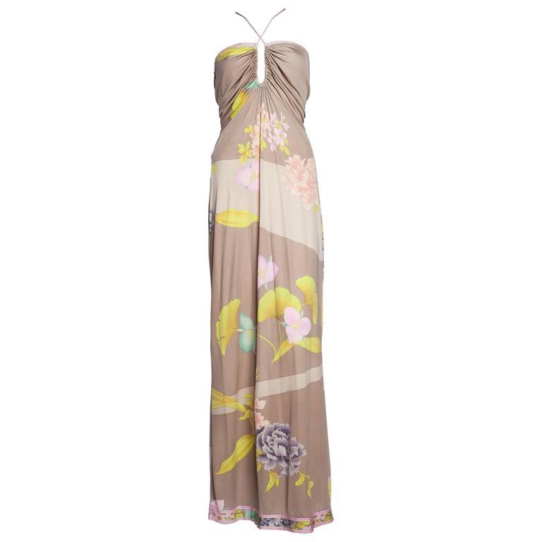 1970s Leonard Silk Jersey Gown