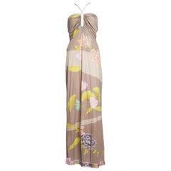1970S LEONARD Silk Jersey Gown Dress