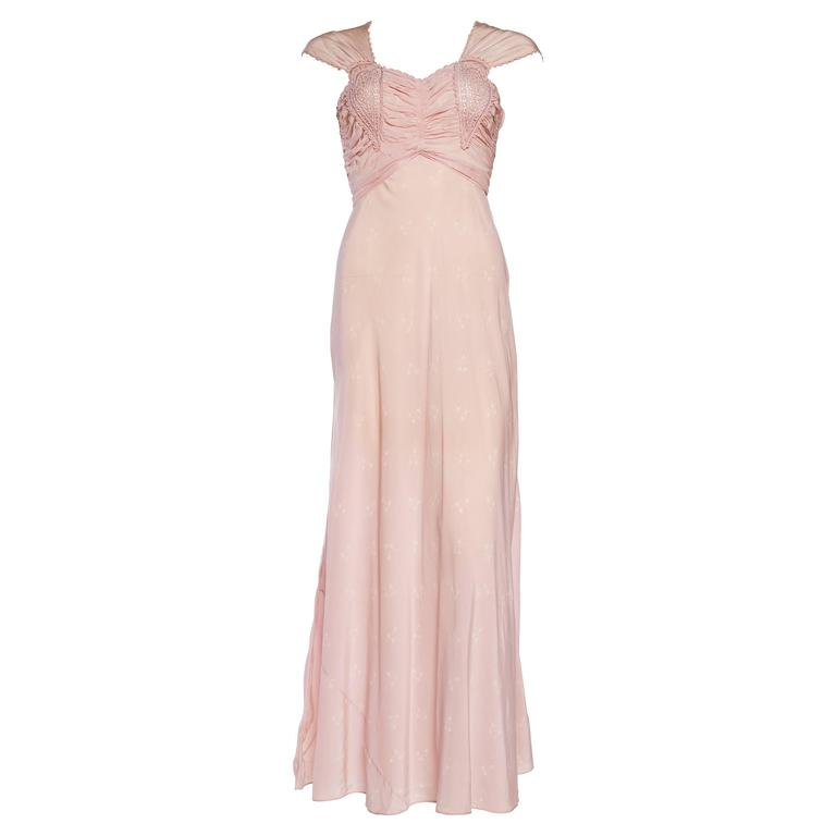 1930 bias lingerie silk slip gown