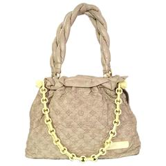 Louis Vuitton Taupe Leather Monogram Olympe Stratus Gm Tote Bag rt. $3,300