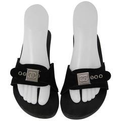 Chanel Studded Monogram Clog Sandals Size 39