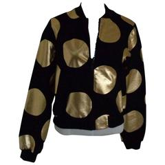 Boutique Moschino Black / Gold Pois Sweater NWOT