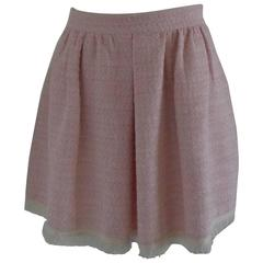 1980s Noshua Pink Skirt with fringes