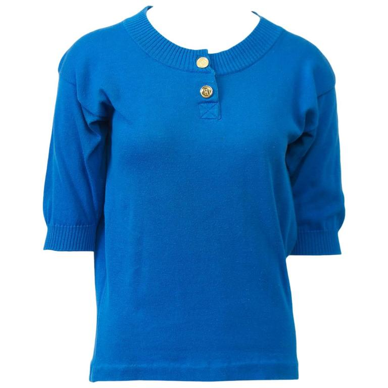 Chanel Blue Pullover For Sale