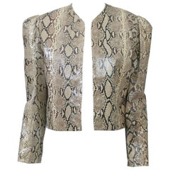 Snakeskin Cropped Jacket