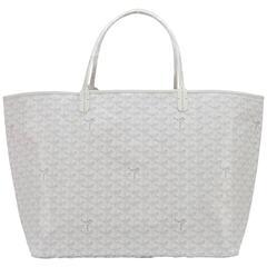 Goyard White St Louis GM Chevron Tote Bag Fabulous