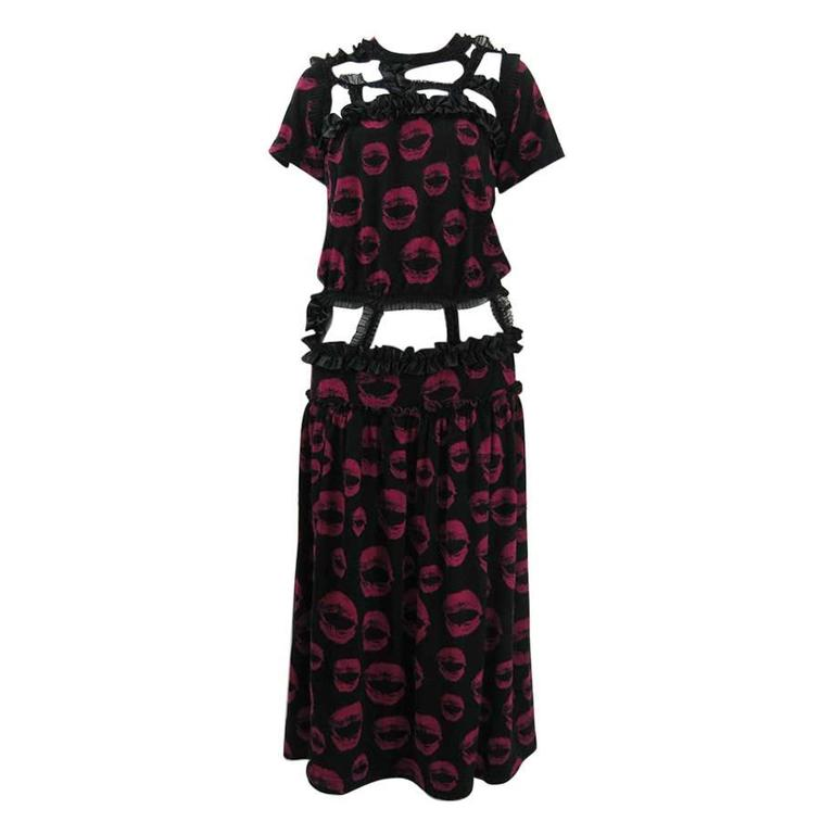 Comme des Garcons 2008 Ribbon Kiss Dress