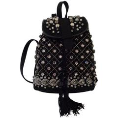 Sold Out - Alberta Ferretti Black with Swarovski Backpack NWOT