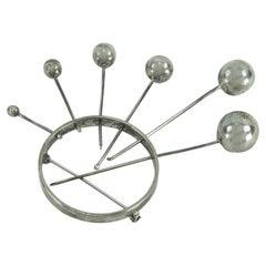Modernist Sterling Silver Love at First Spike Vintage Heirloom Estate Brooch Pin