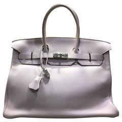 Hermes Rose Dragee Swift Leather 35cm Birkin Bag