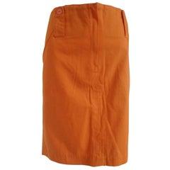 Nazareno Gabrieli Orange Skirt NWOT