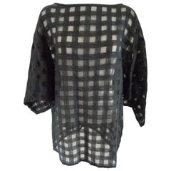 1980s Effegi Black See-through Linen Shirt