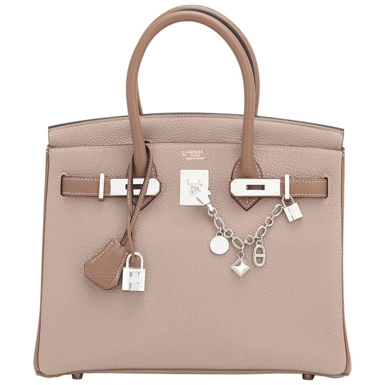 Hermes HSS Gris Tourterelle and Etoupe 30cm Birkin Palladium Hardware Exclusive 1