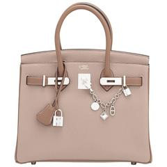 Hermes HSS Gris Tourterelle and Etoupe 30cm Birkin Palladium Hardware Exclusive
