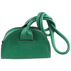 Really Nice Super Original  Loewe Green Leather Bag