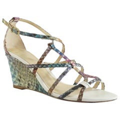 Alexandre Birman Multi Snake Strappy Wedges - 36.5