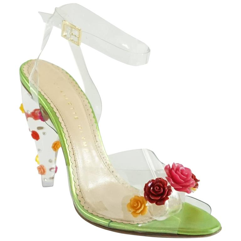 Charlotte Olympia Clear Jelly Lucite Heels With Multi