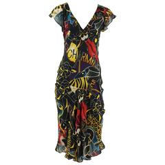 Sonia Rykiel Multi Pop Art Print Dress with Pockets - 36