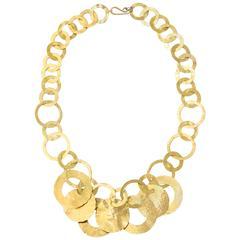 Hammered 14k Gold  Modernist Collier