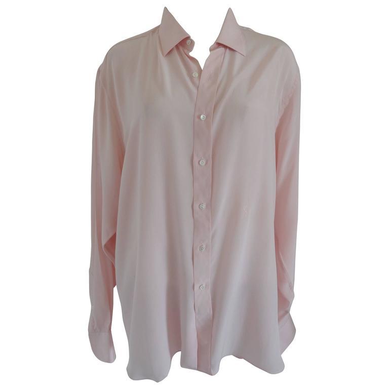 Yves Saint Laurent chemises Pink Shirt