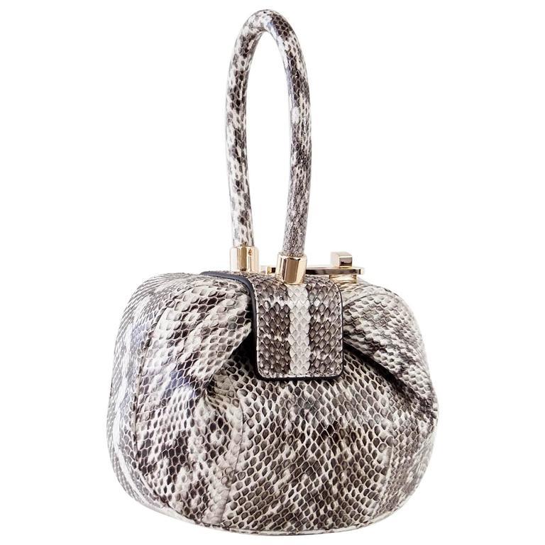 Gabriela Hearst Nina Demi Bag Snakeskin For Sale At 1stdibs