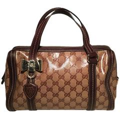 Gucci Coated Monogram Bowler Handbag