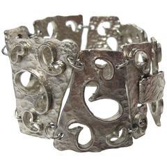 1970s Hobe Cutout Heavy Abstract Link Bracelet - sale