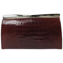 Ferragamo Alligator Clutch