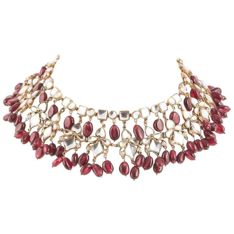 Kenneth Jay Lane Moghul style necklace, 1960s 1