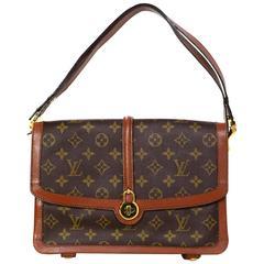 Louis Vuitton Vintage Monogram Flap Bag GHW