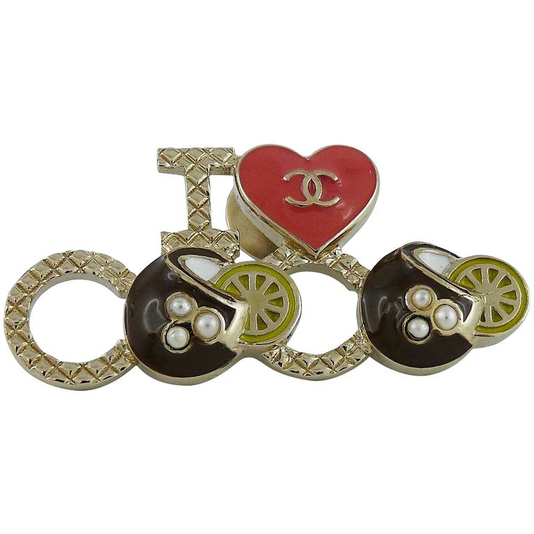 Chanel I Love Coco CC Brooch Cruise 2016/17 For Sale