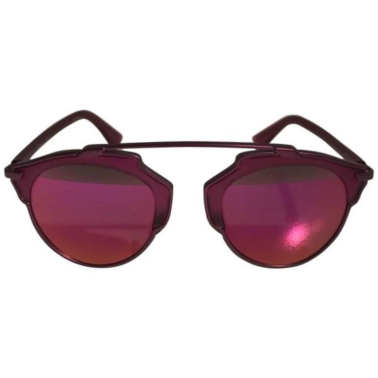 Dior So Real Split Sunglasses Burgundy For Sale