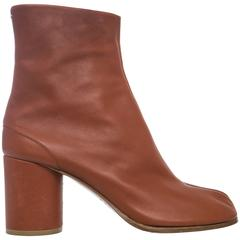 Maison Martin Margiela Leather Tabi Ankle Boots