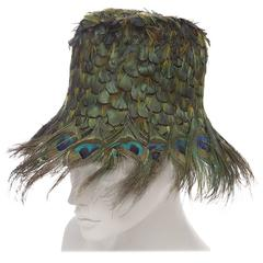 Prada Runway Peacock Feather Hat, Spring - Summer 2005