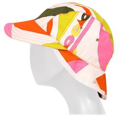 Emilio Pucci Colorful Cotton Print Hat