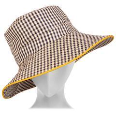 Hermes Black and White Silk Hat