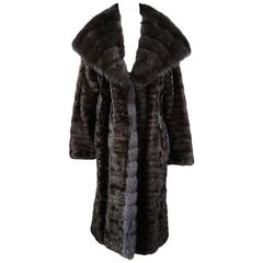 J. Mendel Chocolate Brown Fur Coat, Modern
