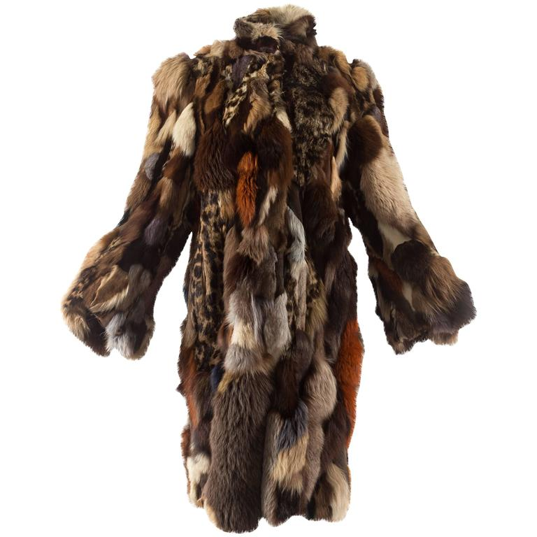 Patchwork fur coat by 'Octopus', circa 1970s 1
