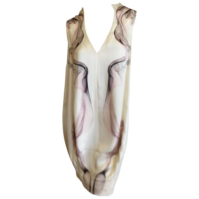 """Alexander McQueen Silk Sleeveless """"Smoke"""" Dress Spring 2009 1"""